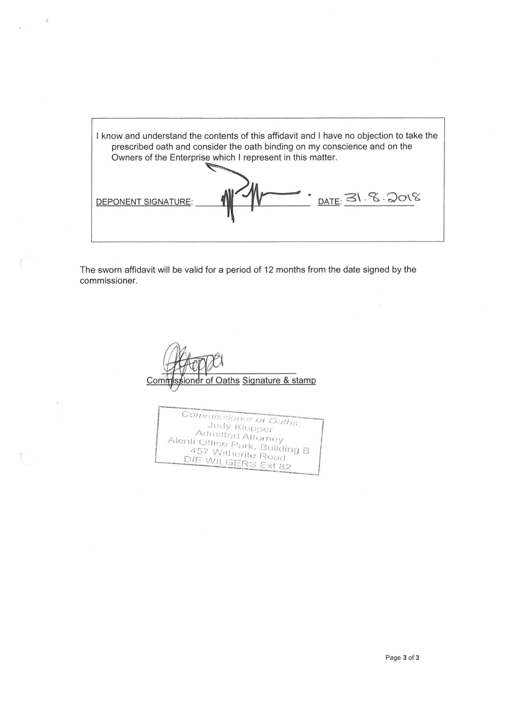 BBEEE Certificate